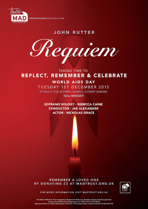 World Aids Day 2015 – Rutter Requiem