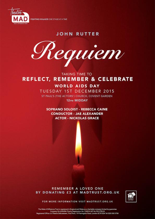 World Aids Day 2015 – Rutter Requiem