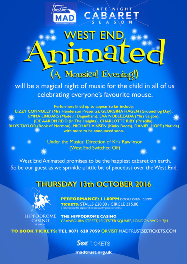 West End Animated (A Mousical Evening) 2016