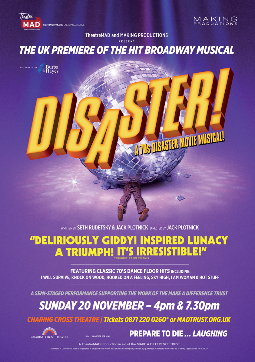 DISASTER! at Charing Cross Theatre 2016