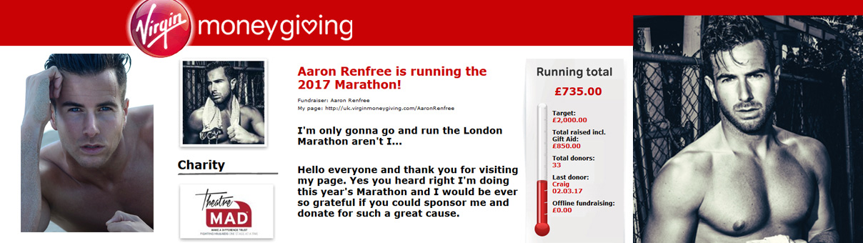 Aaron Renfree NEEDS YOUR SPONSORSHIP – Please