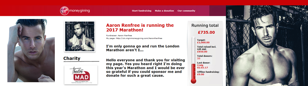Aaron Conquered the London Marathon for TheatreMAD!