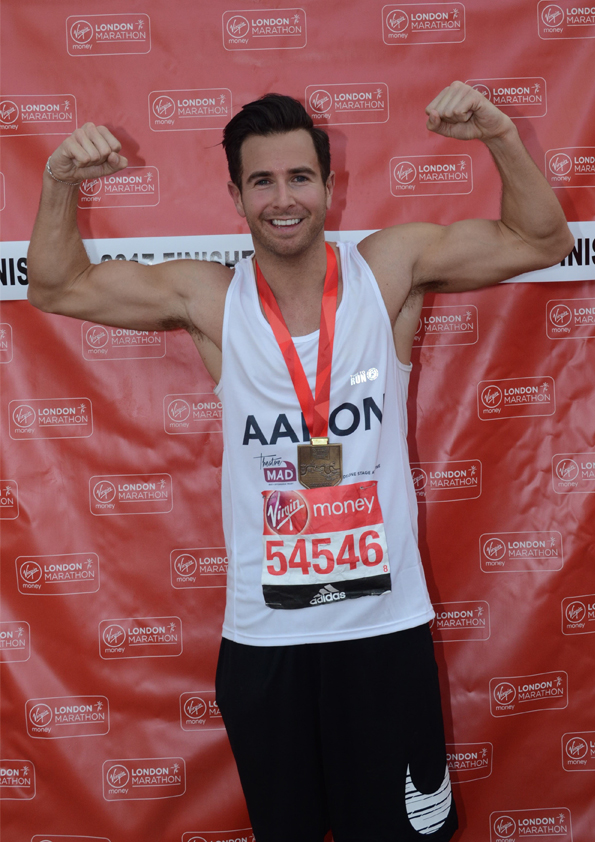 Aaron Conquered! Not too late to sponsor him for his London Marathon Run!