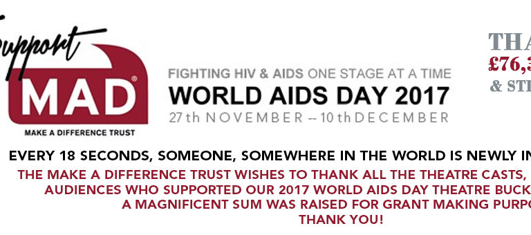 £76,360 Raised by Bucket Collection & Counting – 2017 World AIDS Day Theatre Bucket Collection
