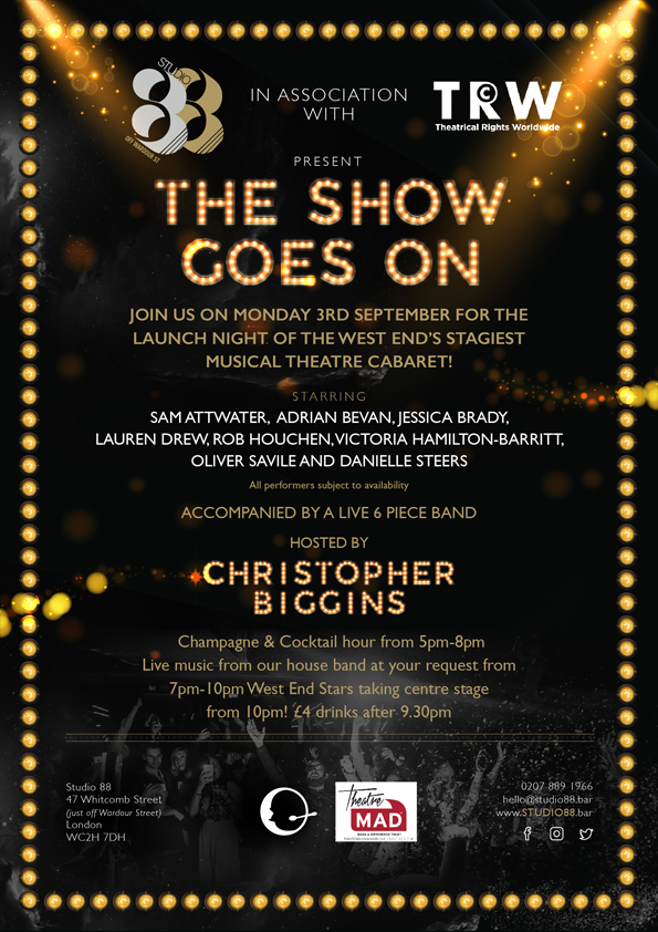 The Show Goes On – Studio 88 & Theatrical Rights Worldwide