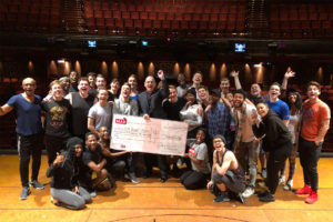 Cast of Book of Mormon by Simon Grigg for MAD Trust
