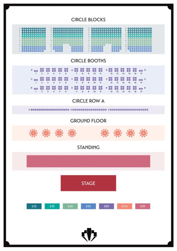 Troxy Bares Seating Plan