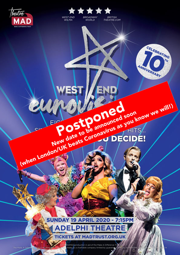 West End Eurovision 2020-POSTPONED